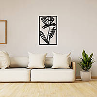 Декоративная настенная абстракция из дерева «Изящный цветок», фото 1
