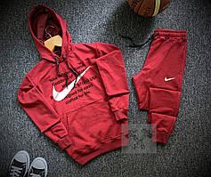 Мужской спортивный костюм Nike красный с капюшоном (Найк)