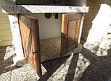 """Бетонный стол-плита для уличного камина-барбекю """"Сицилия"""" с фасадом, фото 3"""