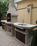 """Бетонний стіл-плита для вуличного каміна, барбекю """"Сицилія"""" з фасадом, фото 5"""