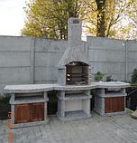 """Бетонний стіл-плита для вуличного каміна, барбекю """"Сицилія"""" з фасадом, фото 8"""