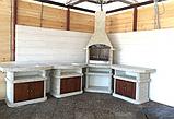 """Бетонный стол-плита для уличного камина-барбекю """"Сицилия"""" с фасадом, фото 9"""
