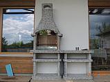"""Бетонний стіл-плита для вуличного каміна, барбекю """"Сицилія"""" з фасадом, фото 10"""
