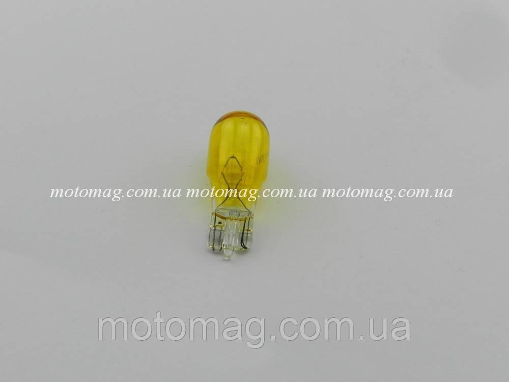 Лампа поворотов без цоколя, 5W, желтая