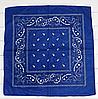 Классическая бандана, 55*55 см, синий