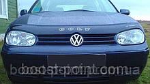 Дефлектор капота (мухобойка) volkswagen golf IV (фольксваген гольф 4) 1997-2003