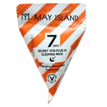 Ночная осветляющая маска для лица May Island 7 Days Secret Vita Plus 10 Sleeping Pack 1 шт (8809515401133)