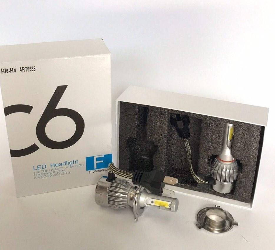Комплект LED ламп, Лампы для авто, Комплект автомобильных LED ламп MHZ C6 H4