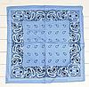 Класична бандана, 55*55 см, небесно-блакитний