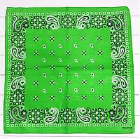 Классическая бандана, 55*55 см, светло-зеленый, фото 1