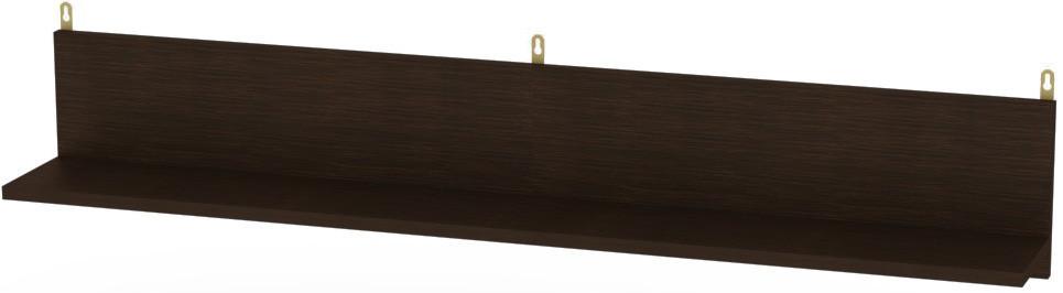 Полку П-25 Венге темний КОМПАНІТ (150х16.6х20 см)