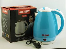 Дисковый Электрочайник Atlanfa AT-H01 2л. Голубой