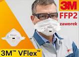 Захисний респіратор - маска для обличчя 3M VFlex 9162Е FFP2 з клапаном. Безкоштовна доставка при замовленні упаковці, фото 4