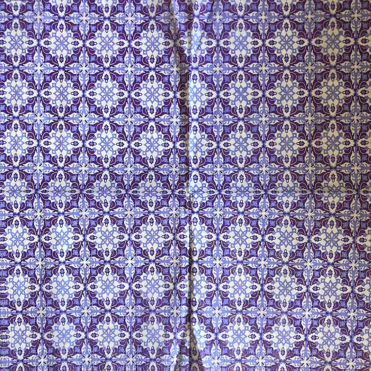 "Салфетка декупажная 33x33 см 12 "" Винтаж ретро Узор синий орнамент снежинка фиолетовая "" Серветка для декупажу"