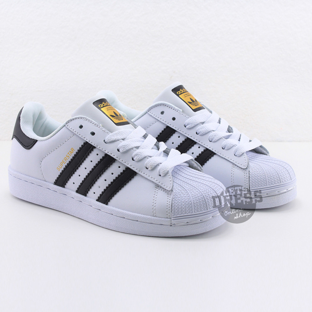 ✅ Кроссовки мужские Adidas Superstar White-Black  | Адидас Суперстар мужские белые  Вьетнам 45