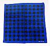 Оригинальная хлопковая бандана, клетка, 55*55 см, синий