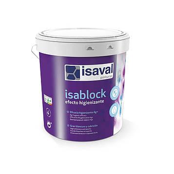 Краска матовая антибактериальная с ионами серебра ИЗАБЛОК ISAVAL 12л до 168м2/слой