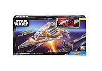 Трек Атака имперского крейсера Hot Wheels Star Wars Carships Double Jump Star Destroyer Battle Playset