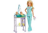 Игровой набор Кукла Барби Педиатр Оригинал с новорожденными детками (DVG10) (887961827262), фото 1