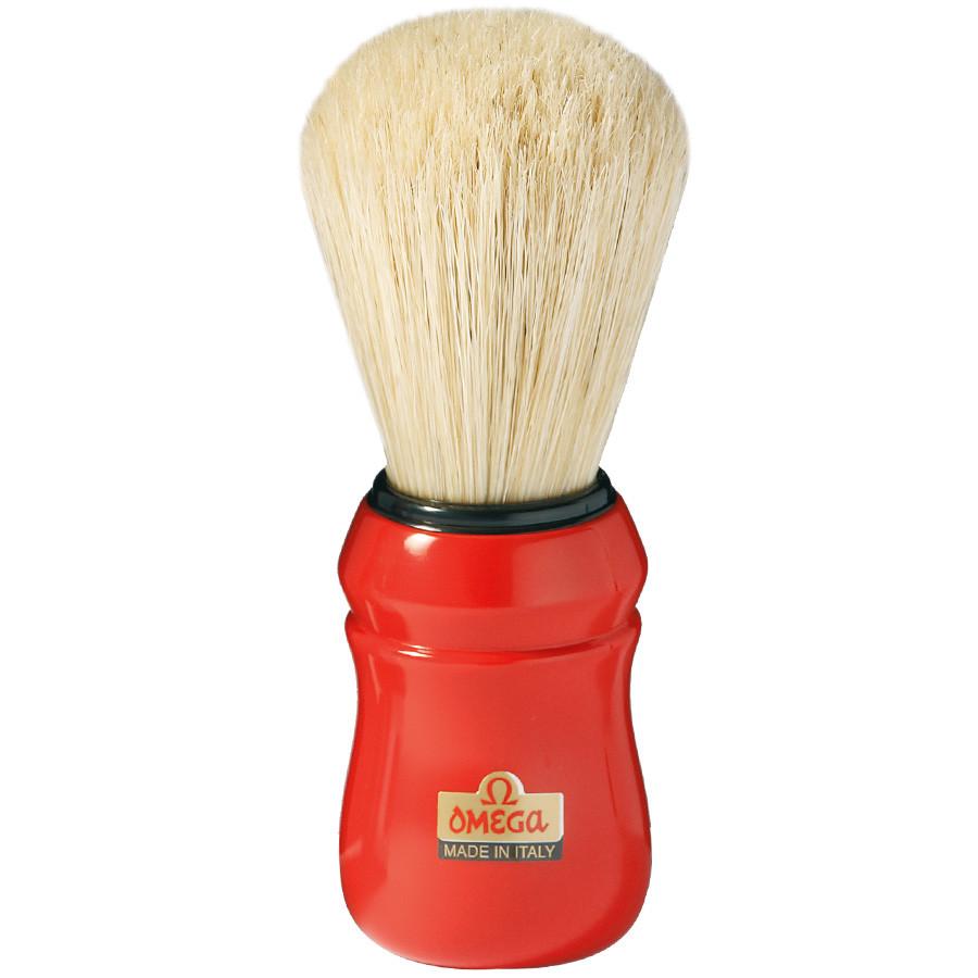 Большой помазок для бритья Omega Professionale 10049 красный