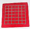 Оригинальная хлопковая бандана, клетка, 55*55 см, красный