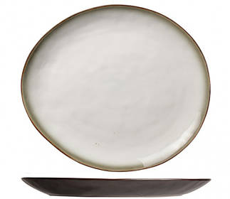 Блюдо овальное - 32.5 х 28.5 см, Коричневое / Белое (Cosy&Trendy) Plato