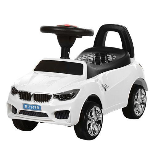 Машинка-каталка М3147В(МР3)-1 BMW белая