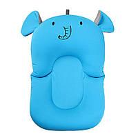 Складной нескользящий матрасик в ванночку SUNROZ Elephant Baby Bath Mat для купания ребенка Голубой (SUN6722)