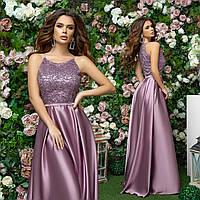 Женское шикарное вечернее платье макси для выпускного вечера Разные цвета, фото 1