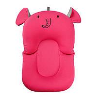 Складной нескользящий матрасик в ванночку SUNROZ Elephant Baby Bath Mat для купания ребенка Розовый (SUN6723)