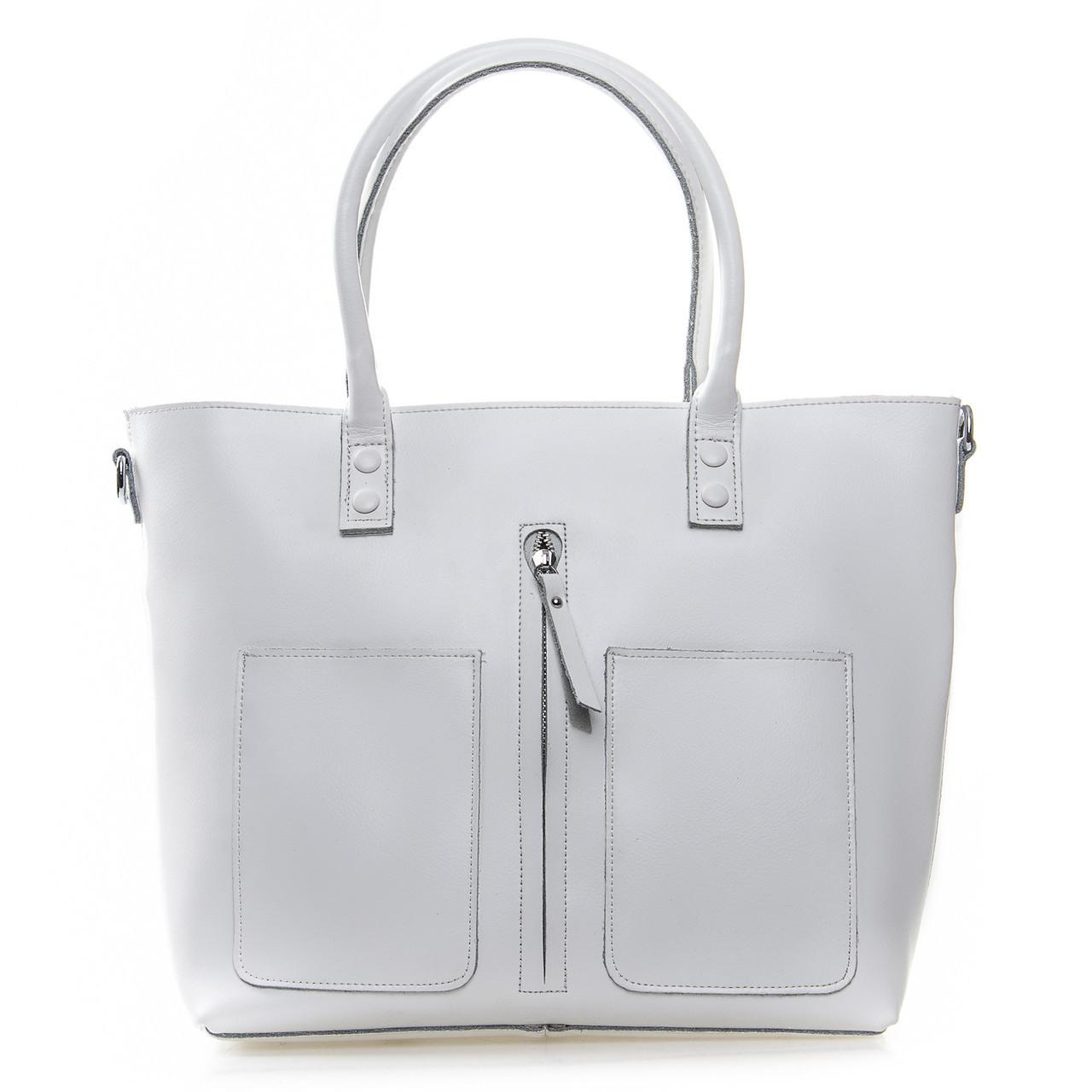 Большая женская классическая кожаная сумка