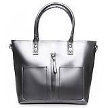 Большая женская классическая кожаная сумка, фото 3