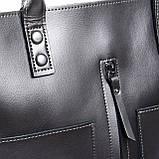 Большая женская классическая кожаная сумка, фото 4