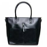 Большая женская классическая кожаная сумка, фото 6