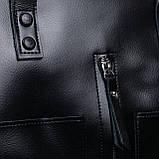 Большая женская классическая кожаная сумка, фото 7
