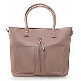 Большая женская классическая кожаная сумка, фото 8