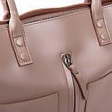 Большая женская классическая кожаная сумка, фото 9