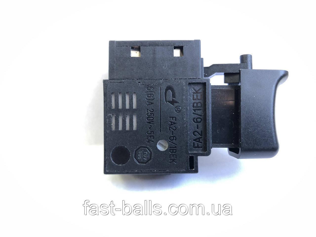Кнопка для сетевых шуруповертов с фиксатором FA2-6/1BEK