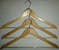 Вешалка деревянная, с прозрачной антискользящей трубкой