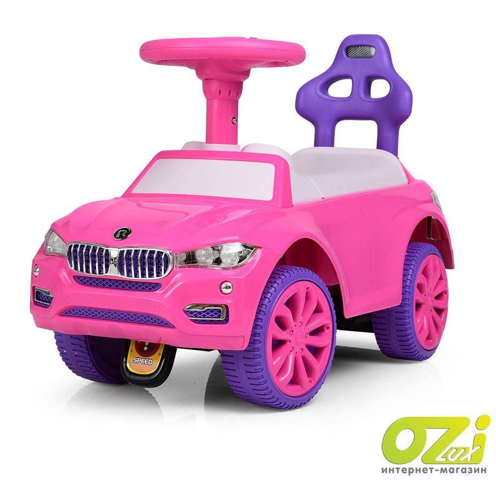 Машинка-каталка 7661-8 розовая