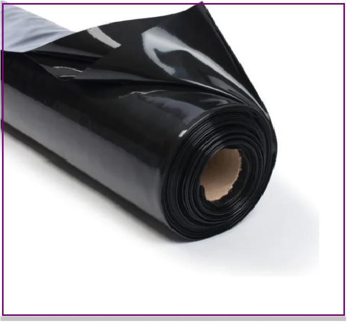 Пленка 100 мкм черная 3*100 м для мульчирования и строительства
