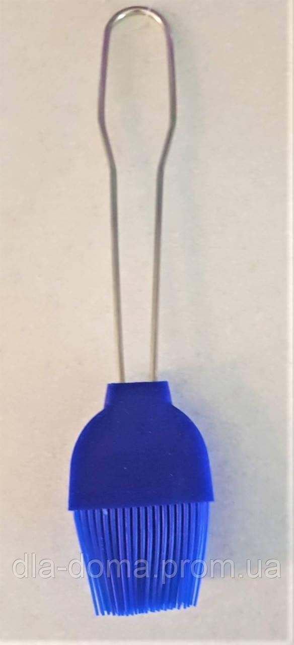 Кисточка силиконовая с металлической ручкой