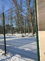 Секция ограждения длиной 2500 мм из сварной сетки 3D, СПОРТ цинк/полимер 5/5 мм, PROMZABOR, Украина, высота 1250