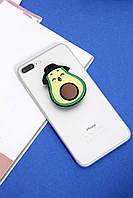 Чехлы для iPhone Попсокет на чехол для iPhone Авокадо One size (Hol-19)