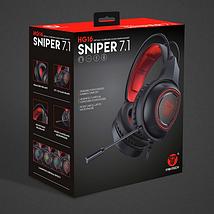 Наушники для геймеров с микрофоном, наушники для компьютера Fantech Sniper 7.1 HG16, фото 2