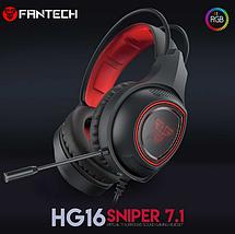 Наушники для геймеров с микрофоном, наушники для компьютера Fantech Sniper 7.1 HG16, фото 3