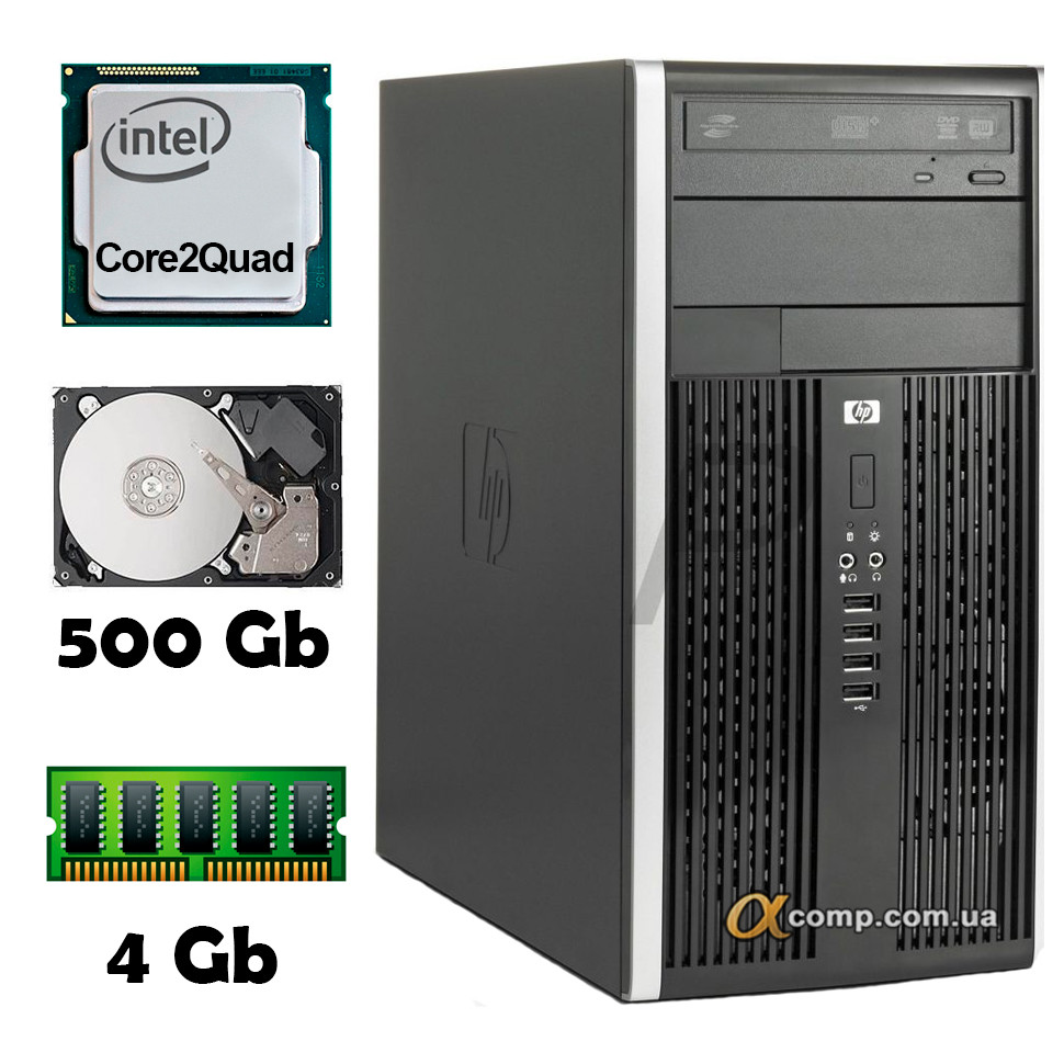 Компьютер HP 6000 (Core2Quad Q9300/4Gb/500Gb) БУ