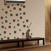 Набор виниловых наклеек Цветочки (самоклеющиеся интерьерные наклейки пленка ПВХ) матовая , фото 1
