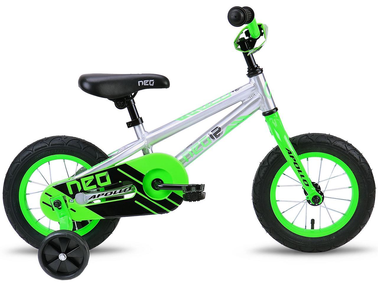 """Велосипед 12"""" Apollo NEO boys салатовый/черный"""