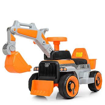 Детский трактор на аккумуляторе bambi M 4144L-7 оранжевый